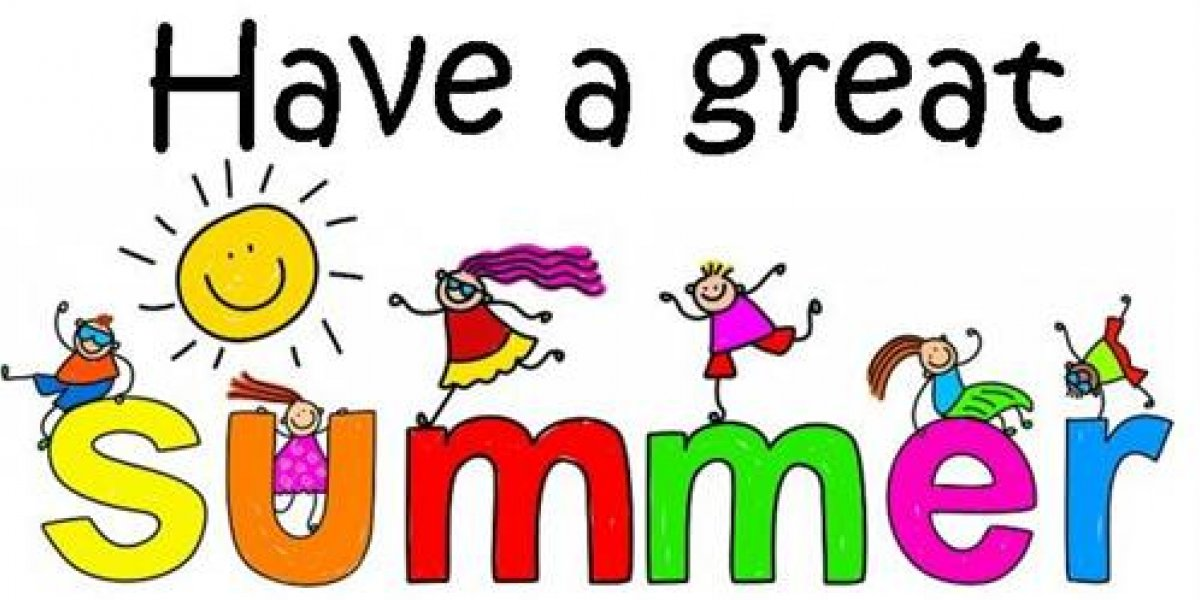 Enjoy your summer!  Hope to see everyone on Sept. 8th...
